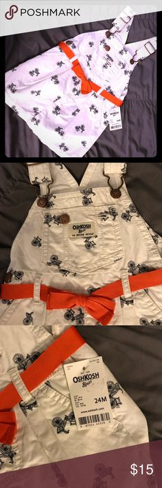 Overall Bicycle print dress OshKosh NWT adorable overall dress with whimsical bicycle print all over. Dresses Casual