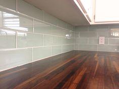 DIY glass tile backsplash, Tips from Fisherman's Wife Furniture - www.brianandkaylor.com