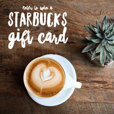 Enter the Starbucks IG/Pinterest Giveaway. Ends 7/24