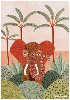 Art Print by Karina Jambrak now available at Jungalow® Illustration Inspiration, Illustration Art, Illustrations, Motif Oriental, Plakat Design, Colorful Artwork, Fine Art Paper, Art Inspo, Painting & Drawing
