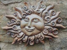 Michaela Lindovská | Galerie V-ATELIER Ceramics Projects, Clay Projects, Michaela, Bird Doodle, Clay Owl, Bottle Display, Face Illustration, Sun Moon Stars, Sun Art