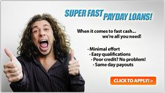 Check out http://www.paydayloansharks.net/ which is the quickest way to get instant approval payday loans. Guaranteed payday loans approval within 24 hours, No credit-check and a faxless loan process online.