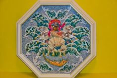 "Sailor Valentines 17"", seashell mosaic for the Sanibel Shell show 2012 ,""King Neptune greeting for 75 Anniversary""."