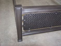 Items similar to Industrial steel structural I beam bed frame diamondplate headboard iron man cave furniture on Etsy Man Cave Furniture, Pipe Furniture, Steel Furniture, Cama Industrial, Industrial Design Furniture, Bed Frame Design, Bed Design, Metal Projects, Welding Projects
