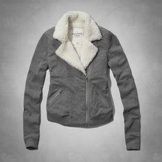Cass Fleece Moto jacket-Ambercrombie-