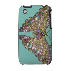 Jeweled butterfly case