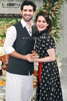 Recent Pictures of Beautiful Couple Aimen Khan and Muneeb Butt (2)