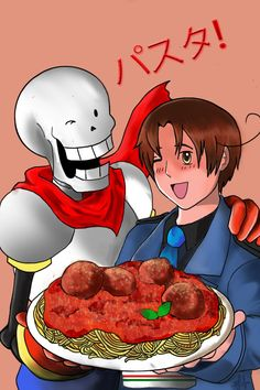 Pasta! by LegoRielArt I've been waiting for this crossover!!!