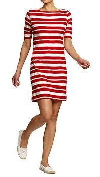 Women's Boat-Neck 3/4-Sleeve Shift Dresses OLD NAVY $23 http://oldnavy.gapcanada.ca/browse/product.do?cid=91339=1=549730013