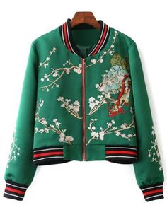 GET $50 NOW | Join RoseGal: Get YOUR $50 NOW!http://www.rosegal.com/jackets/stand-neck-flower-embroidered-baseball-726734.html?seid=7603040rg726734