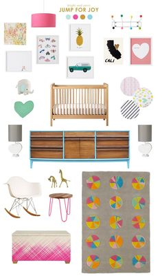 A bright and sweet nursery.