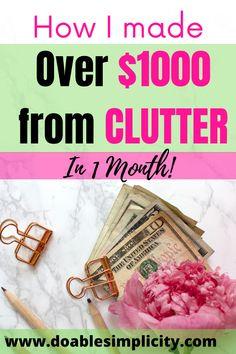 Make Money Now, Ways To Save Money, Money Saving Tips, Money Fast, Small Closet Organization, Organization Ideas, Storage Ideas, Declutter, Organize