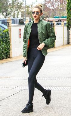 Give your leather jacket a break-- bomber jackets are all the rage for spring.