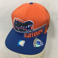 University of Florida Gators Hat Snapback Top of the World Cap Orange Blue   TopoftheWorld   de9088001639