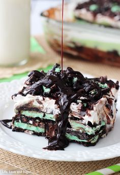 Mint Oreo Icebox Cake / 29 Heavenly Treats For Mint Chocolate Chip Lovers