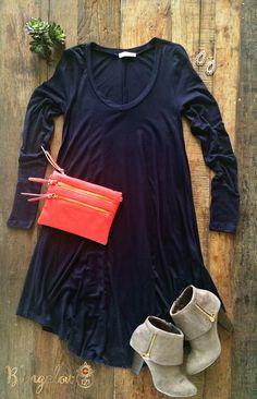 Kodie Dress - Navy (Pre-Order) $35