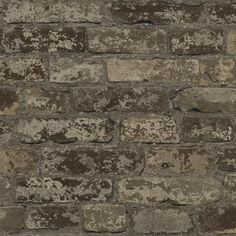 Urban Chic Up The Wall Wallpaper, Dark Taupe/Brown/Beige