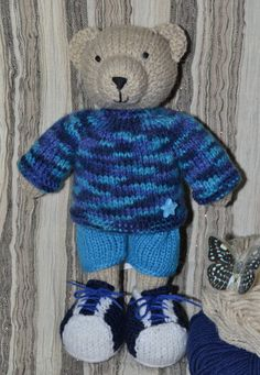 MADE TO ORDER - Boy-Bear - Bear Toy - Boy Bear Doll - Boy Bear Toy - Knit Boy Bear - Handmade Toy - Stuffed Animal - Knitted Toy by NeedleworkCuties on Etsy
