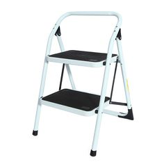Portable Family-use Ladder Household Ladder 2 Steps Folding Stool Ladders Stair Platform. Description:     Portable Family-use Ladder Household Ladder 2 Steps Folding Stool Ladders Stair Platform     100% Brand New.  Comfy Grip Handle      Specification:      Material: Metal and Plastic  Item: Step Stool  Design: 2 Steps Folding  Feature: Folding  Size: as the picture shows                  Package includes:      1 x Step Ladder
