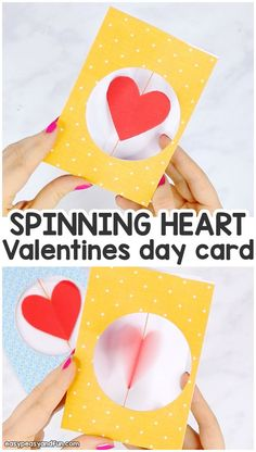 Spinning heart valentines day card for kids valentines day cards handmade, valentine crafts for kids Valentines Bricolage, Kinder Valentines, Valentine Crafts For Kids, Saint Valentine, Valentines Day Decorations, Valentines Diy, Arts And Crafts For Teens, Valentine's Day Crafts For Kids, Fun Diy Crafts