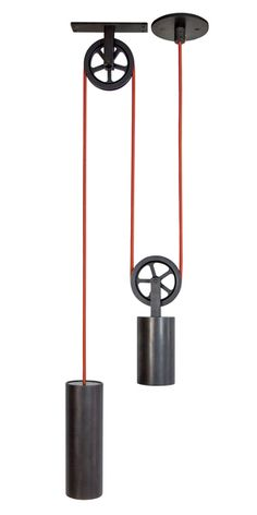 Pendant Pulley Light from Sun Valley Bronze - Dering Hall (=)