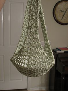 HANGING PLANT SLING... Free pattern!..This one really holds the pot!!