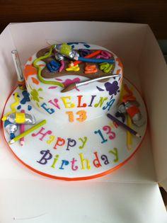 art+painting+cake+-+art+painting+cake Birthday Cake Clip Art, Artist Birthday, 40th Birthday Cakes, Birthday Ideas, Fancy Cakes, Mini Cakes, Cake Art, Art Cakes, Artist Cake