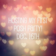 Hosting My First Posh Party! I'm so happy to announce that I will be co-hosting my first Posh Party on December 16th @ 2pm CST. Theme to be announced. Can't wait to view all of your closets in search of some gorgeous and fabulous picks.  Other