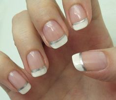 French manicure (Vanity fairest) by Helmetti. Probably the prettiest French manicure I've seen! <3