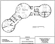 Interconnected yurt house - or separate circular workspaces