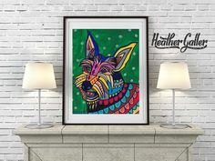 Use Discount Code - SAVEME60 - BERGER PICARD Art - Dog Pop Art Posters Prints of Paintings - Heather Galler Artist (Hg174)