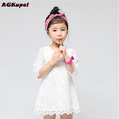 Cool 6 Colors New 2016 Casual Children Kids Girl's Dresses Spring Summer Mom Girls Lace Dress Princess Mini Dresses Kid Baby Clothes - $29.37 - Buy it Now! Check more at http://kidshopglobal.com/kids-and-baby-shop-online/childrens-clothing/girls-clothing/girls-dresses/6-colors-new-2016-casual-children-kids-girls-dresses-spring-summer-mom-girls-lace-dress-princess-mini-dresses-kid-baby-clothes/