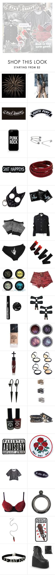 """O d e T o P u n k R o c k"" by binkmoi ❤ liked on Polyvore featuring ELSE, Kenzo, Kreepsville 666, Samsung, Forever 21, UNIF, Creep Street, PaintGlow, Manic Panic NYC and Concrete Minerals"