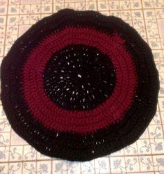 Black/Maroon rug