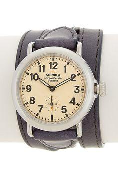 Image of Shinola Women's The Runwell Classic Triple Wrap Leather Watch