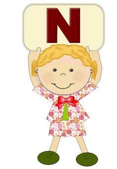 "Alfabeto meninas ""N"""