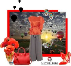 """Up Up and Away . . . . ."" by lois-boyce-flack ❤ liked on Polyvore"