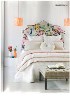 Lazybones Flora quilt in caramel / House & Garden Magazine May 2013  Now available at Corner Store!