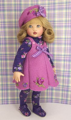 PdV- Nancy Ann is all dressed up in violet.