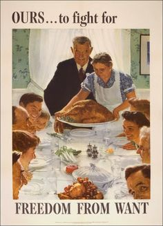 Thanksgiving in World War II - rationing and shortages, political wrangling over the holiday's date, travel restrictions, and more - yet people still gather together to give thanks. More here... Under His Wings: Thanksgiving in World War II