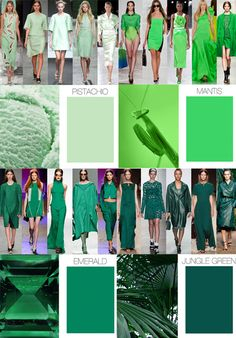 SS 2014, women's color trends trend cool greens
