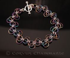 Lorenz's Forget Me Not Bracelet - Corvus Chainmaille