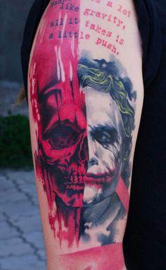Joker Tattoos |Comic Tattoos|Batman Tattoos - Inked Magazine