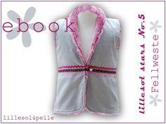Ebook / Schnittmuster lillesol stars No.5 Fellweste
