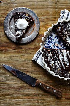 BROWNIE GANACHE TART WITH WHIPPED COCONUT CREME (Gluten Free)