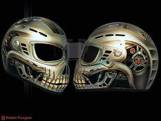 skull helmet, another for Ken Skull Helmet, Helmet Head, Custom Motorcycle Helmets, Custom Helmets, Airbrush Skull, Predator Helmet, Helmet Covers, Helmet Paint, Cars