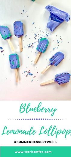 Fun summer lollipops using a Wilton kit are so easy and delicious. I love the flavor of these new candy melts. Best Summer Desserts, Summer Dessert Recipes, Summer Treats, Easy Desserts, Delicious Desserts, Slow Cooker Recipes Dessert, Blueberry Lemonade, Candy Melts, Candy Making