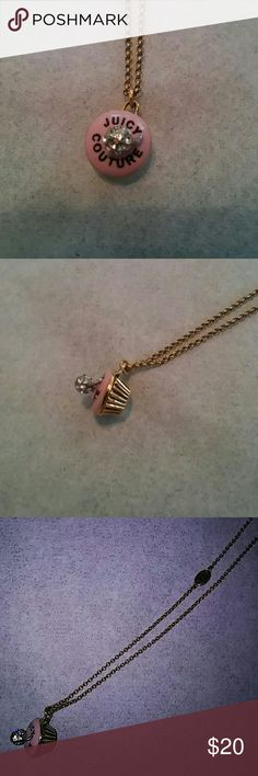 Juicy cupcake necklace Adorable juicy couture necklace. The cup cake opens! Juicy Couture Jewelry Necklaces