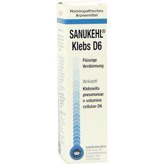 SANUKEHL Klebs D 6 Tropfen:   Packungsinhalt: 10 ml Tropfen PZN: 07402894 Hersteller: SANUM-KEHLBECK GmbH & Co. KG Preis: 9,77 EUR inkl.…