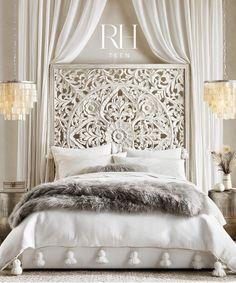 Restoration Hardware Bedroom, Restoration Hardware Catalog, Interior Design Career, Moroccan Bedroom, Home Decor Bedroom, Canopy Bedroom, Bedroom Sets, Master Bedroom, Beautiful Bedrooms